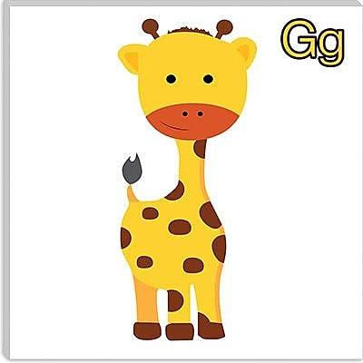 iCanvas Kids Children G is for Giraffe Graphic Canvas Wall Art; 12'' H x 12'' W x 0.75'' D