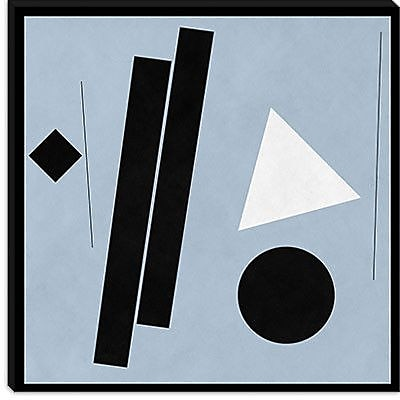 iCanvas Modern Construction (after Shaw) Graphic Art on Canvas; 18'' H x 18'' W x 0.75'' D