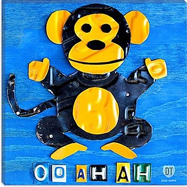 iCanvas Kids Children Oo Ah Ah the Monkey from Design Turnpike Painting Print on Canvas