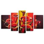 My Art Outlet Mexican Fiesta! 5 Piece Painting on Wrapped Canvas Set