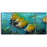 My Art Outlet 'Just Keep Swimming' 3 Piece Graphic Art Plaque Set