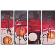 My Art Outlet Balls Eclipsed in Time 4 Piece Painting on Wrapped Canvas Set