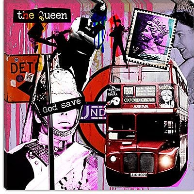 iCanvas ''London #3'' by Luz Graphics Graphic Art on Canvas; 26'' H x 26'' W x 0.75'' D