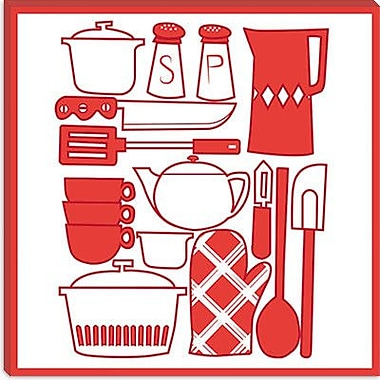 iCanvas Kitchenware Collage Graphic Art on Canvas; 26'' H x 26'' W x 0.75'' D