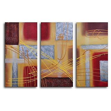 My Art Outlet Conducting 3 Piece Wrapped Canvas Art Set