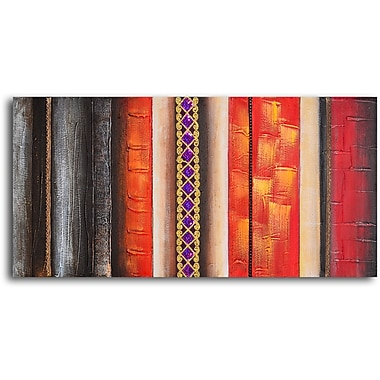 My Art Outlet 'Brocade Column' Painting Print on Wrapped Canvas