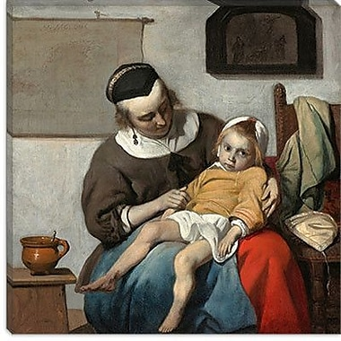 iCanvas ''The Sick Child'' Canvas Wall Art by Gabriel Metsu; 12'' H x 12'' W x 1.5'' D