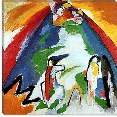 iCanvas ''Mountain'' by Wassily Kandinsky Painting Print on Canvas; 12'' H x 12'' W x 0.75'' D