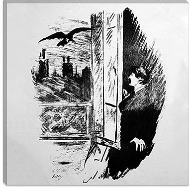 iCanvas ''The Raven II'' by Edouard Manet Paiting Print on Wrapped Canvas; 18'' H x 18'' W x 1.5'' D