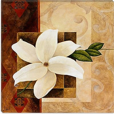 iCanvas ''White Flower'' by Pablo Esteban Graphic Art on Wrapped Canvas; 37'' H x 37'' W x 0.75'' D