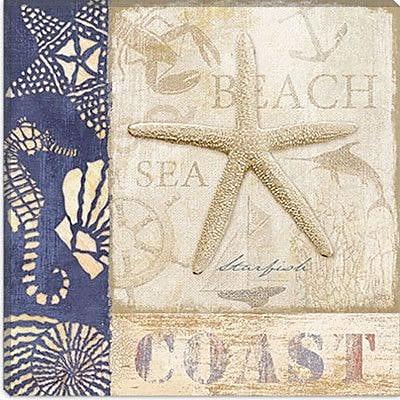 iCanvas ''White Sand Blue Sea I'' Canvas Wall Art by Veronique; 26'' H x 26'' W x 1.5'' D
