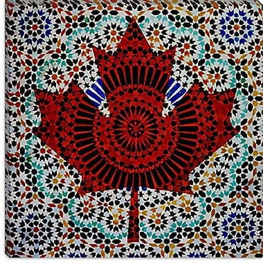iCanvas Canada Flag Maple Leaf #2 Graphic Art on Canvas; 26'' H x 26'' W x 1.5'' D
