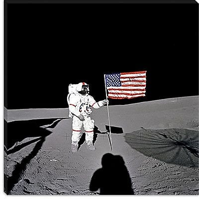 iCanvas Apollo 14 Shepard Photographic Print on Canvas; 26'' H x 26'' W x 1.5'' D