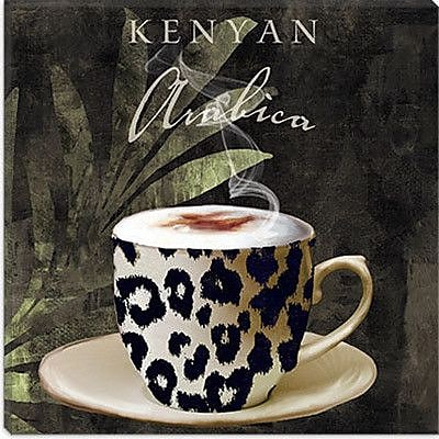 iCanvas 'Afrikan Coffee I' by Color Bakery Graphic Art on Canvas; 12'' H x 12'' W x 1.5'' D