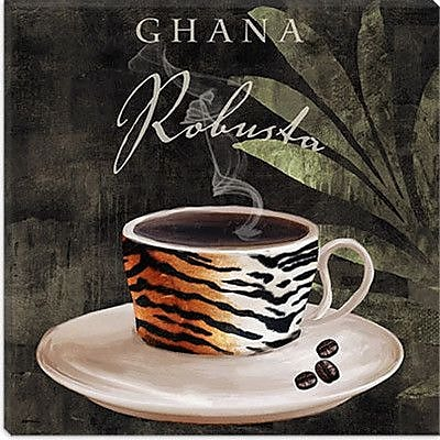 iCanvas 'Afrikan Coffee IV' by Color Bakery Graphic Art on Canvas; 26'' H x 26'' W x 0.75'' D