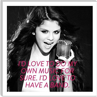 iCanvas Selena Gomez Quote Graphic Art on Wrapped Canvas; 12'' H x 12'' W x 1.5'' D