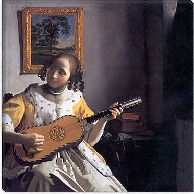 iCanvas ''The Guitar Player'' by Johannes Vermeer Painting Print on Wrapped Canvas