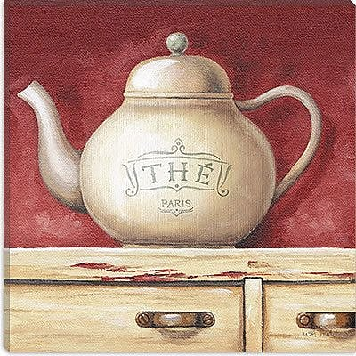 iCanvas ''The Paris Tea Pot'' Canvas Wall Art by Lisa Audit; 37'' H x 37'' W x 1.5'' D