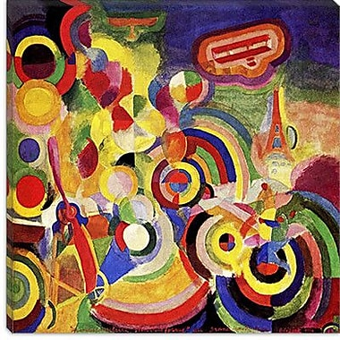 iCanvas 'Homage to Bleriot' by Robert Delaunay Painting Print on Canvas; 12'' H x 12'' W x 1.5'' D