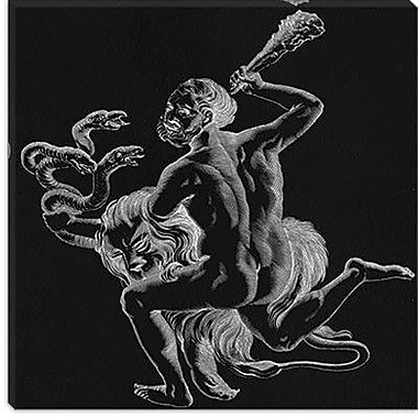 iCanvas Astronomy and Space Constellation of Hercules II Graphic Art on Canvas
