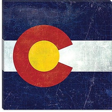 iCanvas Colorado Flag, Map Graphic Art on Canvas; 18'' H x 18'' W x 0.75'' D