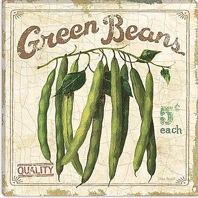 iCanvas ''Green Beans (On Special II)'' by Lisa Audit Vintage Advertisement on Canvas