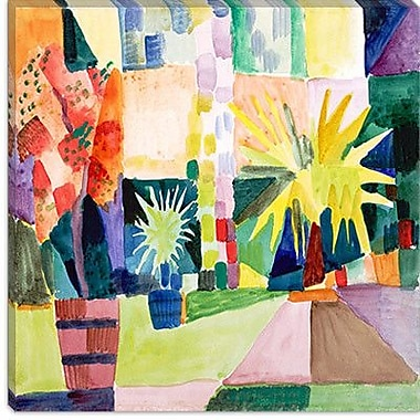 iCanvas ''Garden on Lake Thun Macke'' by August Macke Painting Print on Canvas