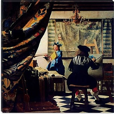 iCanvas ''The Art of Painting'' by Johannes Vermeer Painting Print on Wrapped Canvas