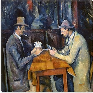 iCanvas ''The Card Players, 1893-96'' Canvas Wall Art by Paul Cezanne; 26'' H x 26'' W x 0.75'' D