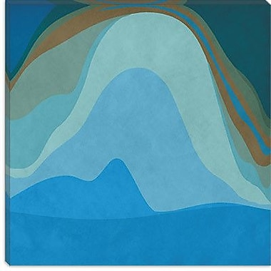 iCanvas Modern Blue Planet Graphic Art on Wrapped Canvas; 26'' H x 26'' W x 0.75'' D