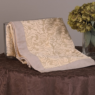 Saro Mariano Faux Suede Table Topper; Champagne