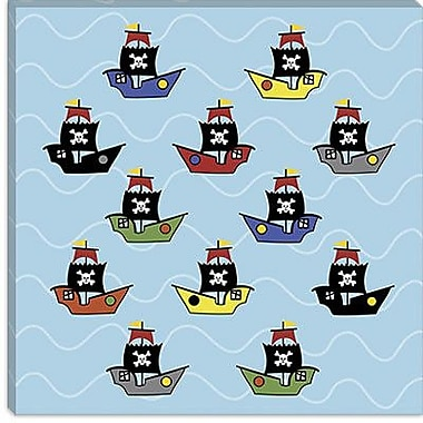 iCanvas ''Ships'' by Erin Clark Graphic Art on Canvas; 12'' H x 12'' W x 0.75'' D