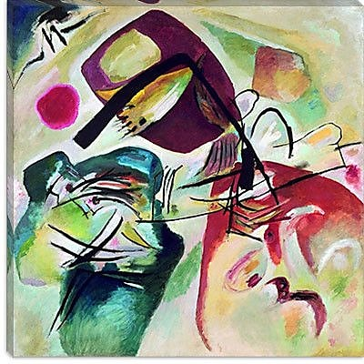 iCanvas ''With Black Arch'' Canvas Wall Art by Wassily Kandinsky; 26'' H x 26'' W x 1.5'' D