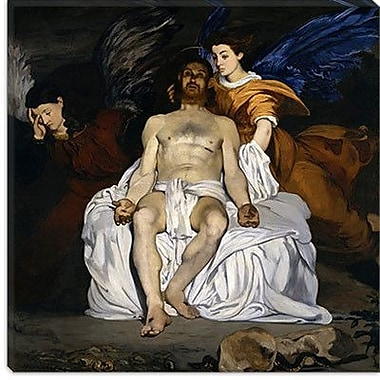 iCanvas ''The Dead Christ w/ Angels'' by Edouard Manet Painting Print on Canvas