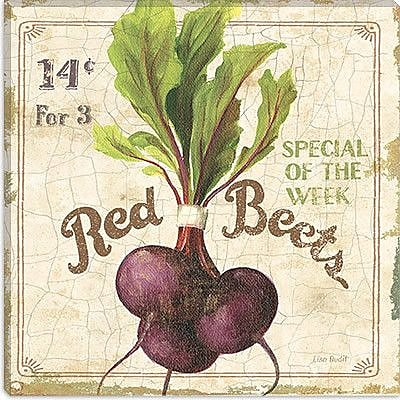 iCanvas ''Red Beets (On Special III)'' by Lisa Audit Vintage Advertisement on Canvas