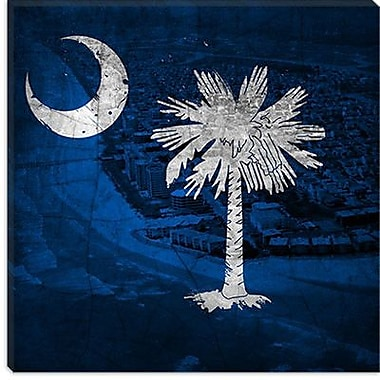 iCanvas Flags South Carolina Myrtle Beach Graphic Art on Wrapped Canvas; 12'' H x 12'' W x 0.75'' D