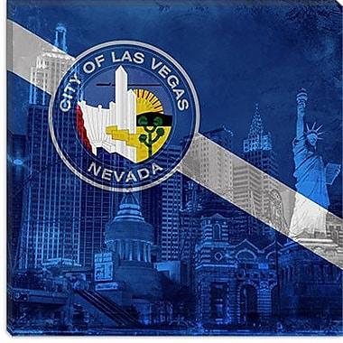 iCanvas Las Vegas Flag, ''New York'' w/ Grunge Graphic Art on Canvas; 12'' H x 12'' W x 1.5'' D