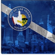 iCanvas Las Vegas Flag, ''New York'' w/ Grunge Graphic Art on Canvas; 18'' H x 18'' W x 1.5'' D