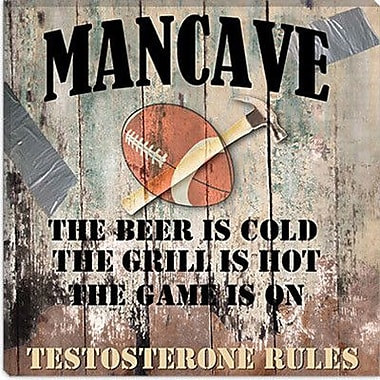 iCanvas ''Mancave I'' by Mindy Sommers Vintage Advertisement on Canvas; 18'' H x 18'' W x 0.75'' D
