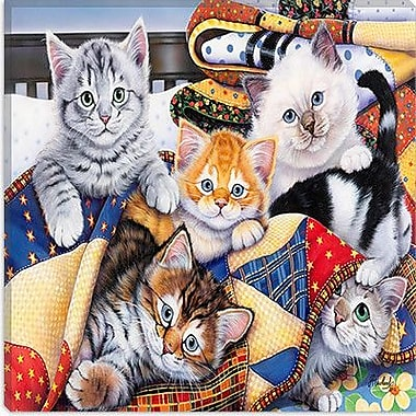 iCanvas ''Cozy Kittens'' by Jenny Newland Graphic Art on Canvas; 37'' H x 37'' W x 1.5'' D