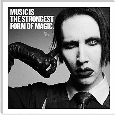 iCanvas Icons, Heroes and Legends Marilyn Manson Quote Graphic Art on Canvas