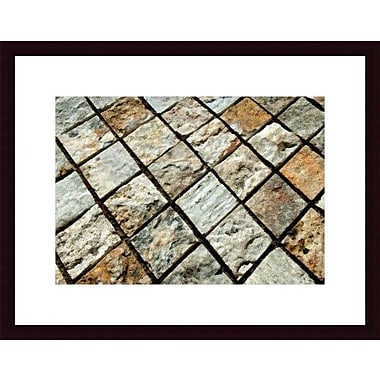 Printfinders Diamond Tiles by John K. Nakata Framed Photographic Print; Black