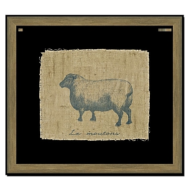 Melissa Van Hise Sheep II Framed Graphic Art; Navy