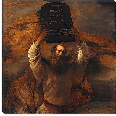 iCanvas ''Moses w/ The Ten Commandments'' by Rembrandt Painting Print on Canvas