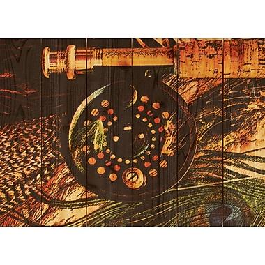Gizaun Art Fly Reel Painting Print; 33 x 24