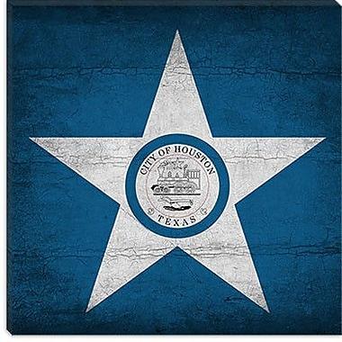 iCanvas Houston Flag, Grunge Graphic Art on Canvas; 26'' H x 26'' W x 0.75'' D
