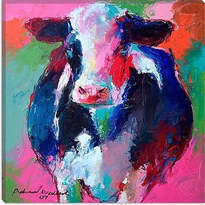 iCanvas ''Cow II'' by Richard Wallich Graphic Art on Canvas; 18'' H x 18'' W x 0.75'' D