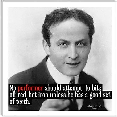 iCanvas Harry Houdini Quote Textual Art on Canvas; 18'' H x 18'' W x 0.75'' D