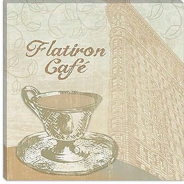 iCanvas 'Flatiron Cafe' by Erin Clark Graphic Art on Canvas; 26'' H x 26'' W x 1.5'' D