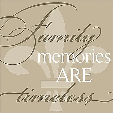 Forest Creations Family Memories Are Timeless... Simplicity Textual Art on Canvas; 9'' x 9''